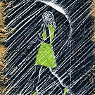 Walkin' in the Rain (Green OSB Edition) Painting by Richard Yeomans