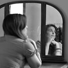 Self Portrait-Thinking of Loved Ones by kailani carlson