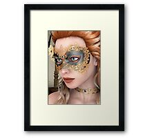Masquerade Mask Framed Print
