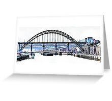 4 Bridges over the Tyne Greeting Card