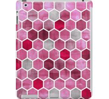Pink Ink - watercolor hexagon pattern iPad Case/Skin