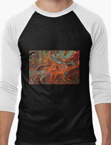 Pyracantha Berry Abstract Men's Baseball ¾ T-Shirt
