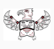 Mayan face & wings by Deanozoff