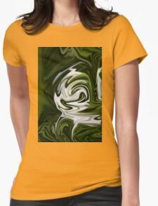 Snowdrop Abstract Womens Fitted T-Shirt