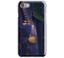 Totoro in front of a real bus iPhone Case/Skin