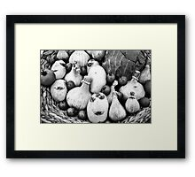 THERE IS A FUNNY FACE POTATO THERE!!! Food in B&W  Framed Print