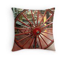 Wagon Wheel - Antique Fire Wagon Throw Pillow