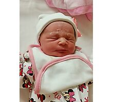 Elsie-May (Born January 19th 2014) Photographic Print