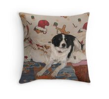 Well a Dog Has to Have a Little Comfort Throw Pillow