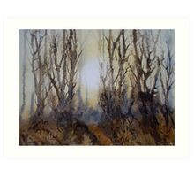The Clearing in the Mist Art Print