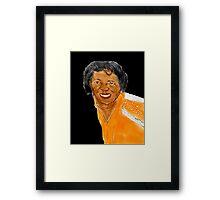 JAMES BROWN Framed Print