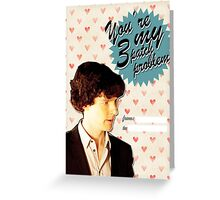 Sherlock Themed Valentine's Day Cards - 3 Patch Problem Greeting Card