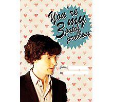 Sherlock Themed Valentine's Day Cards - 3 Patch Problem Photographic Print