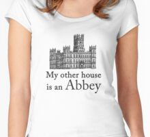 My other house is an Abbey Women's Fitted Scoop T-Shirt