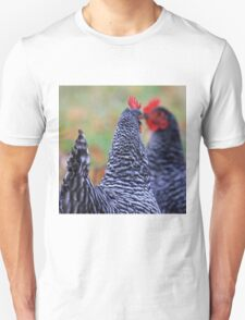 Mirrored Roosters Unisex T-Shirt