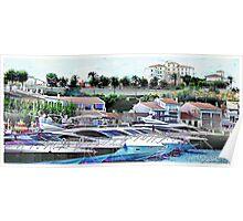 Marina at Es Castell Poster