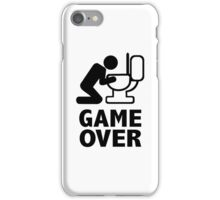 Game over puke toilet iPhone Case/Skin