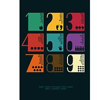 Numbers Photographic Print