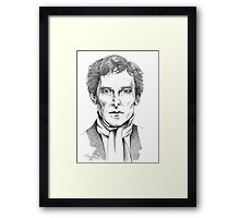 Portrait of Jeremy Brett  Framed Print