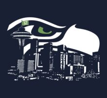 Seattle Seahawks NFL Fans Funny t-shirt HAWKcity Limited S-2XL by scheme710