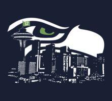 Seattle Seahawks NFL Fans Funny t-shirt HAWKcity Limited S-2XL by scheme710