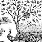 Peocock Fantasy by Paula Belle Flores