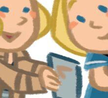 tos meets aos: carol marcus Sticker