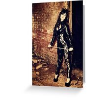 Dark Angel and The Cane Greeting Card