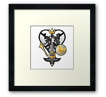 (Kingdom Hearts) All for One and One for All Silver/Gold Framed Print
