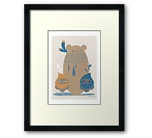 Bear Statue Framed Print