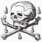 Skull & Crossbones by Hawthorn Mineart