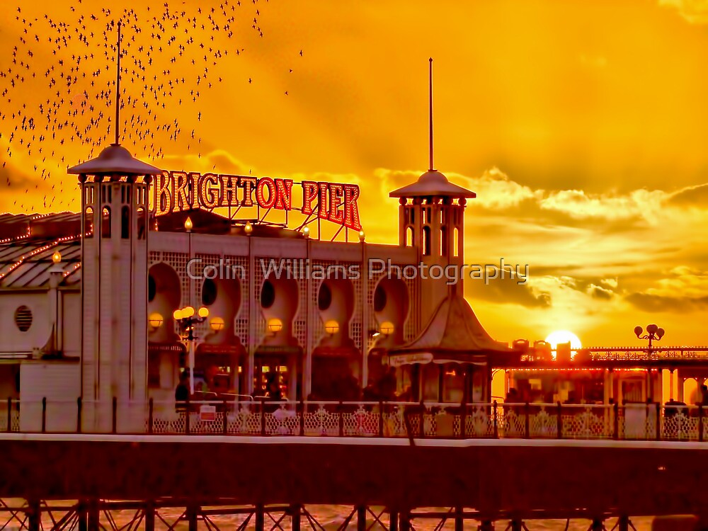 Roosting Starlings - Brighton Pier - HDR by Colin  Williams Photography