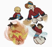 xiaolin monks elements by Isaac Livengood