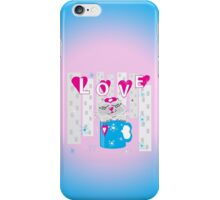 Kitty in a cup iPhone Case/Skin