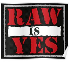 Raw is Yes Poster