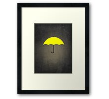 You are my Yellow Umbrella Framed Print