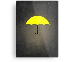 You are my Yellow Umbrella Metal Print