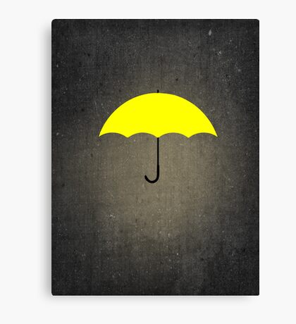 You are my Yellow Umbrella Canvas Print