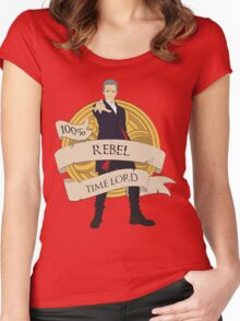 Rebel Time Lord Women's Fitted Scoop T-Shirt