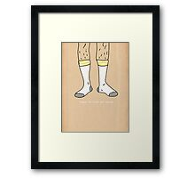 It's Business Time. Framed Print