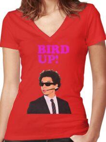 Bird up! Women's Fitted V-Neck T-Shirt