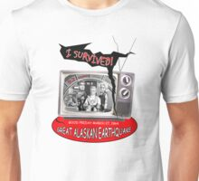 """I SURVIVED"" 1964 GREAT ALASKAN EARTHQUAKE Unisex T-Shirt"