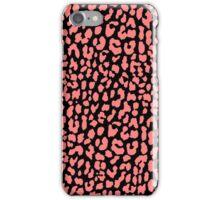 Coral Black Leopard iPhone Case/Skin