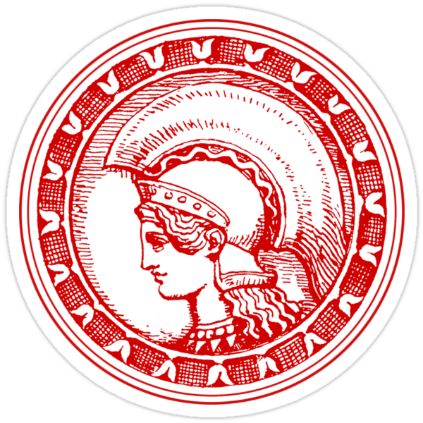 Athena/Minerva - red by Hawthorn Mineart