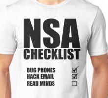 NSA Checklist Unisex T-Shirt