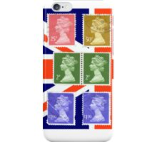 British Royal Mail postage stamps  iPhone Case/Skin