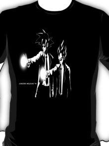Gokou and Vegeta Pulp Fiction Style T-Shirt