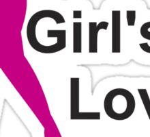 Girls Love Golf Sticker
