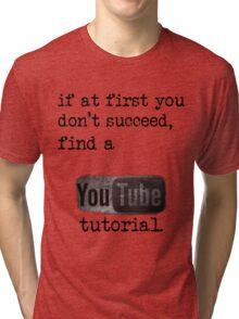 You Tube Tutorial Tri-blend T-Shirt