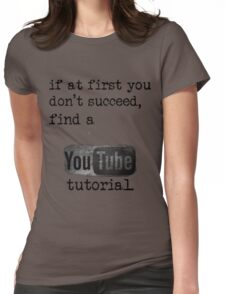 You Tube Tutorial Womens Fitted T-Shirt